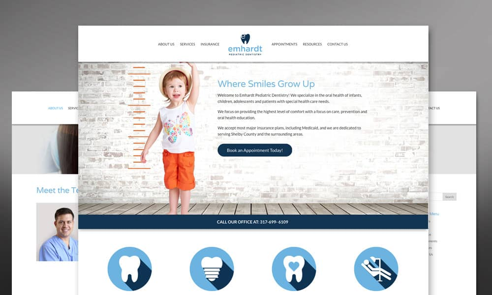 Emhardt Pediatric Dentistry Website