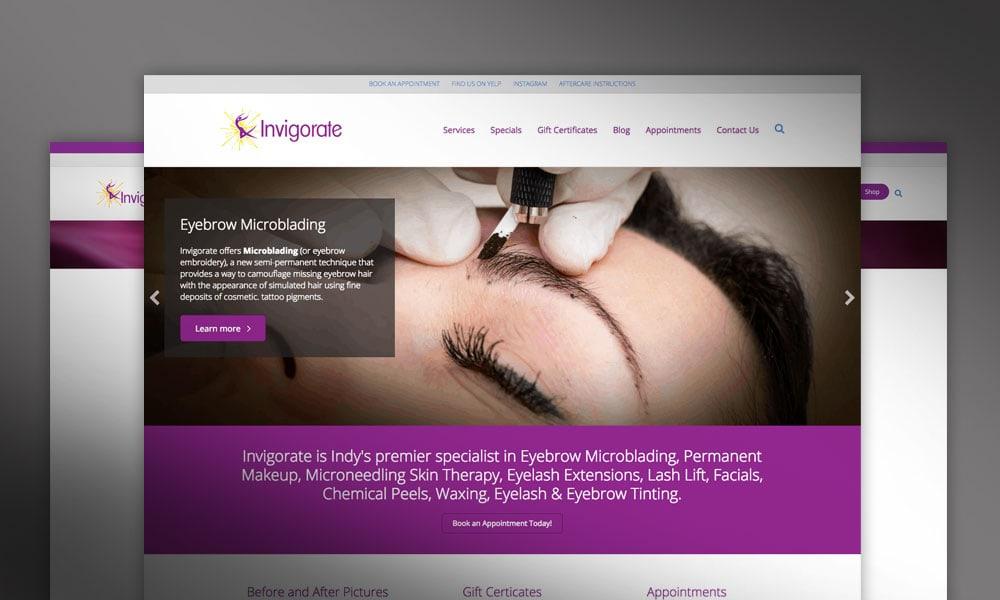 Invigorate Spa Website